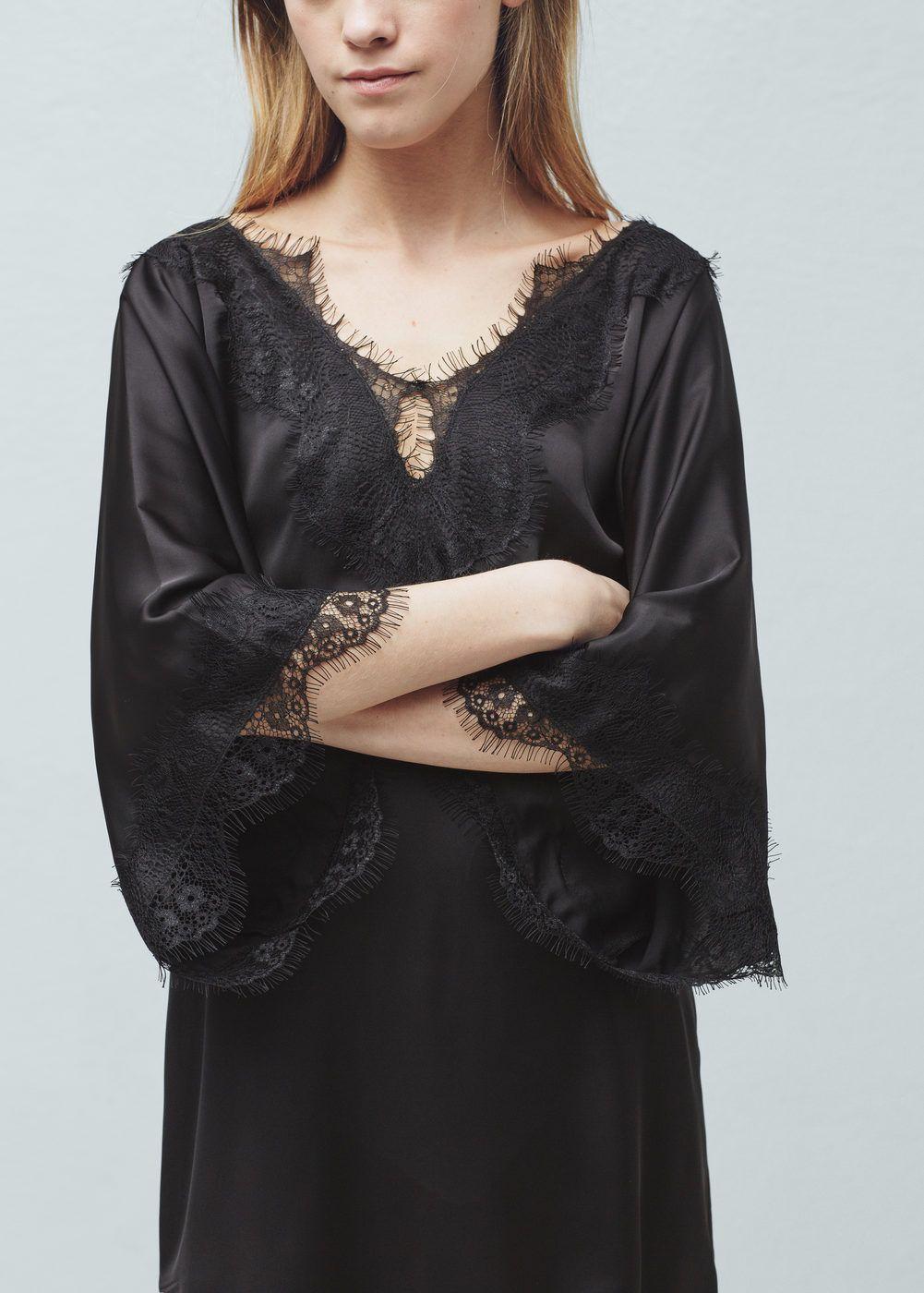 5324d875d22d Kleid mit spitzenborten - Damen   Pinterest   Mango, Für damen und Damen