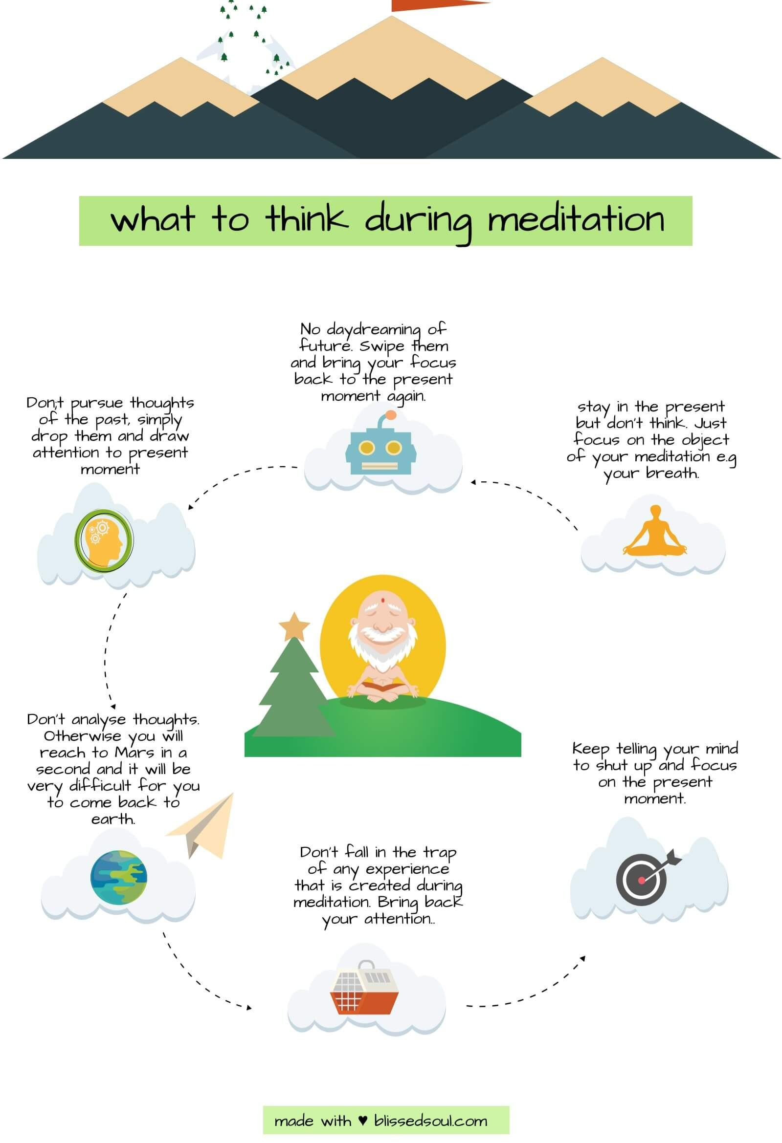 The key to a successful meditation session is staying out ...