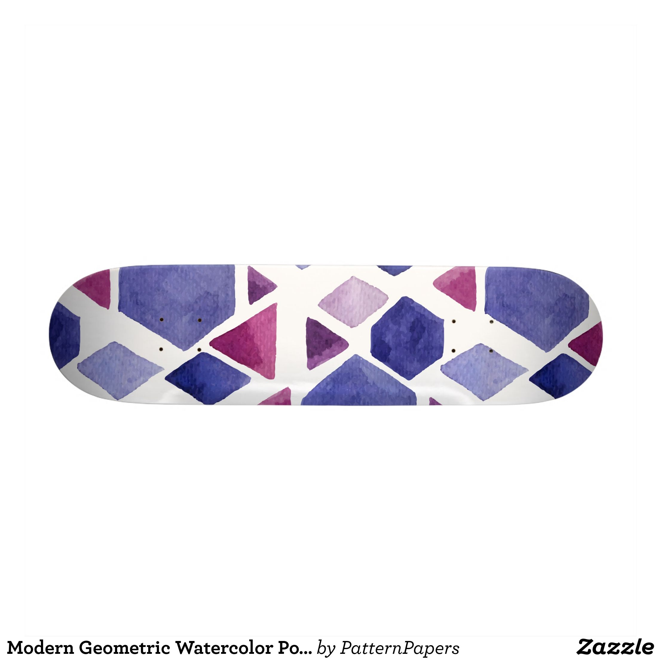 Modern Geometric Watercolor Polygon Pattern Skateboard Deck Supreme Hard Rock Maple Deck Custom Boards By Ta Polygon Pattern Fashion Graphic Skateboard Decks
