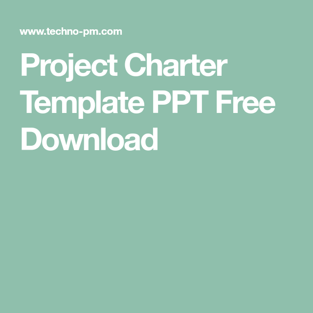 Project Charter Template Ppt Download Excel Project Charter