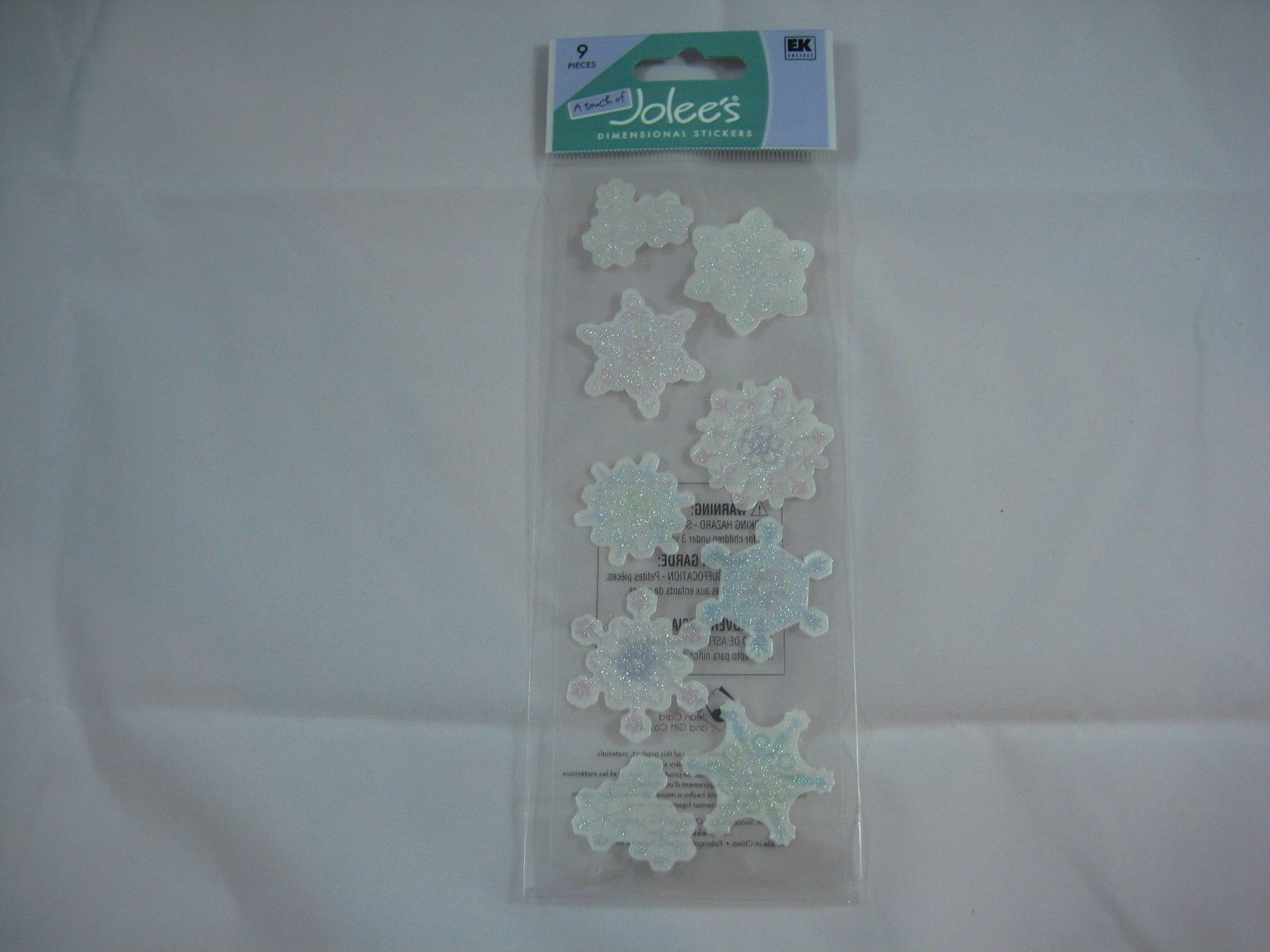 """A Touch Of Jolee'S """"Snowflakes"""" - 9 Pcs Dimensional Stickers"""