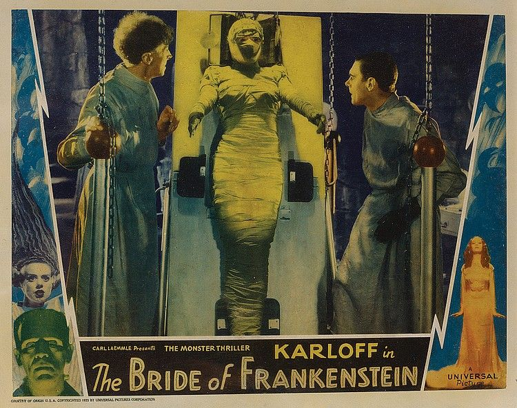 Boris Karloff lobby card from Bride of Frankenstein ...