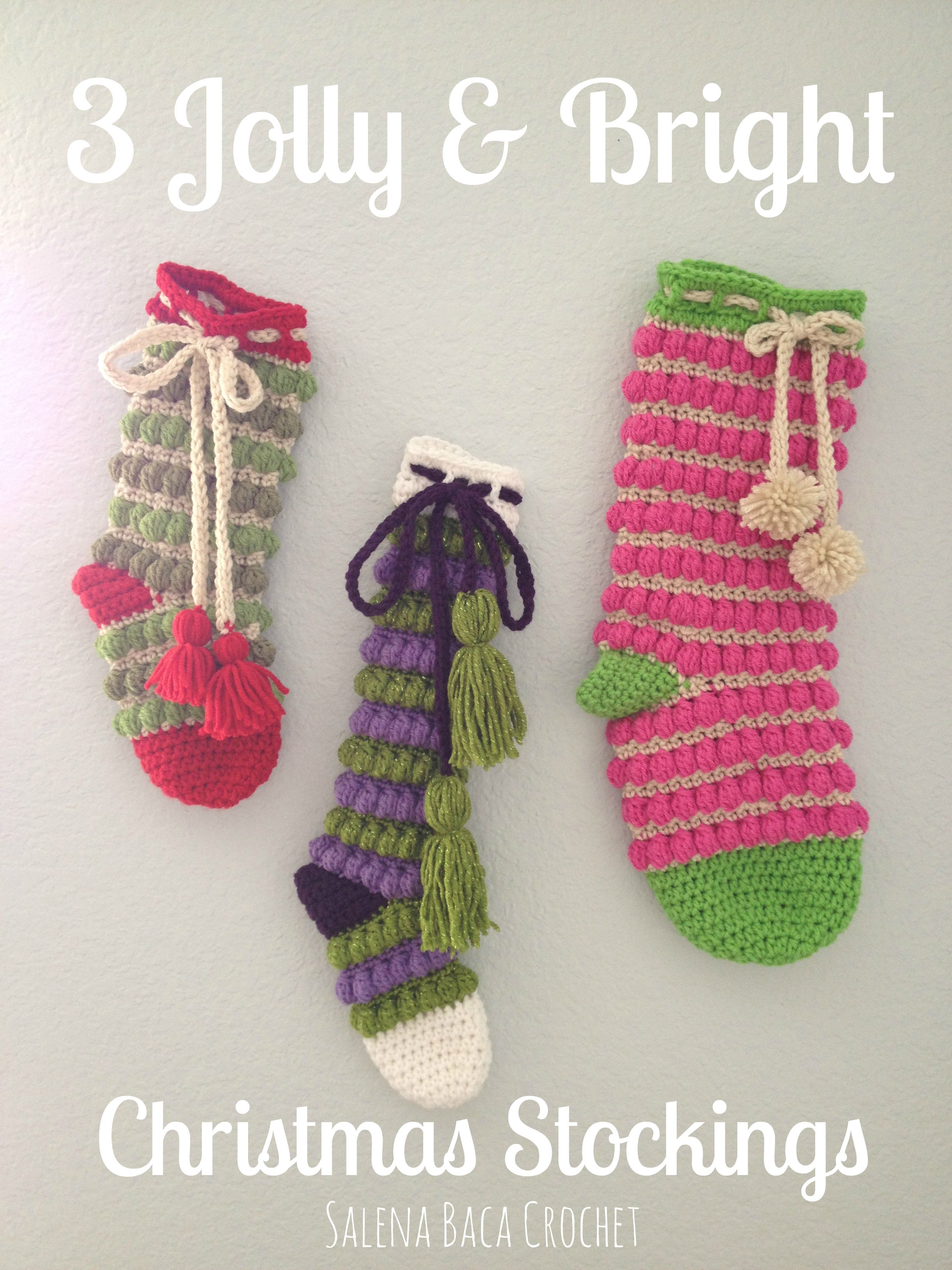 Jolly & Bright Christmas Stocking - New Pattern Giveaway!