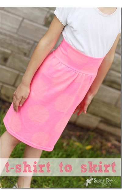 this is how to make a girl's skirt from a tshirt - this would make a comfy…