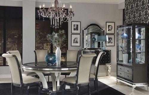 aico hollywood swank round dining table ai n03001 2399