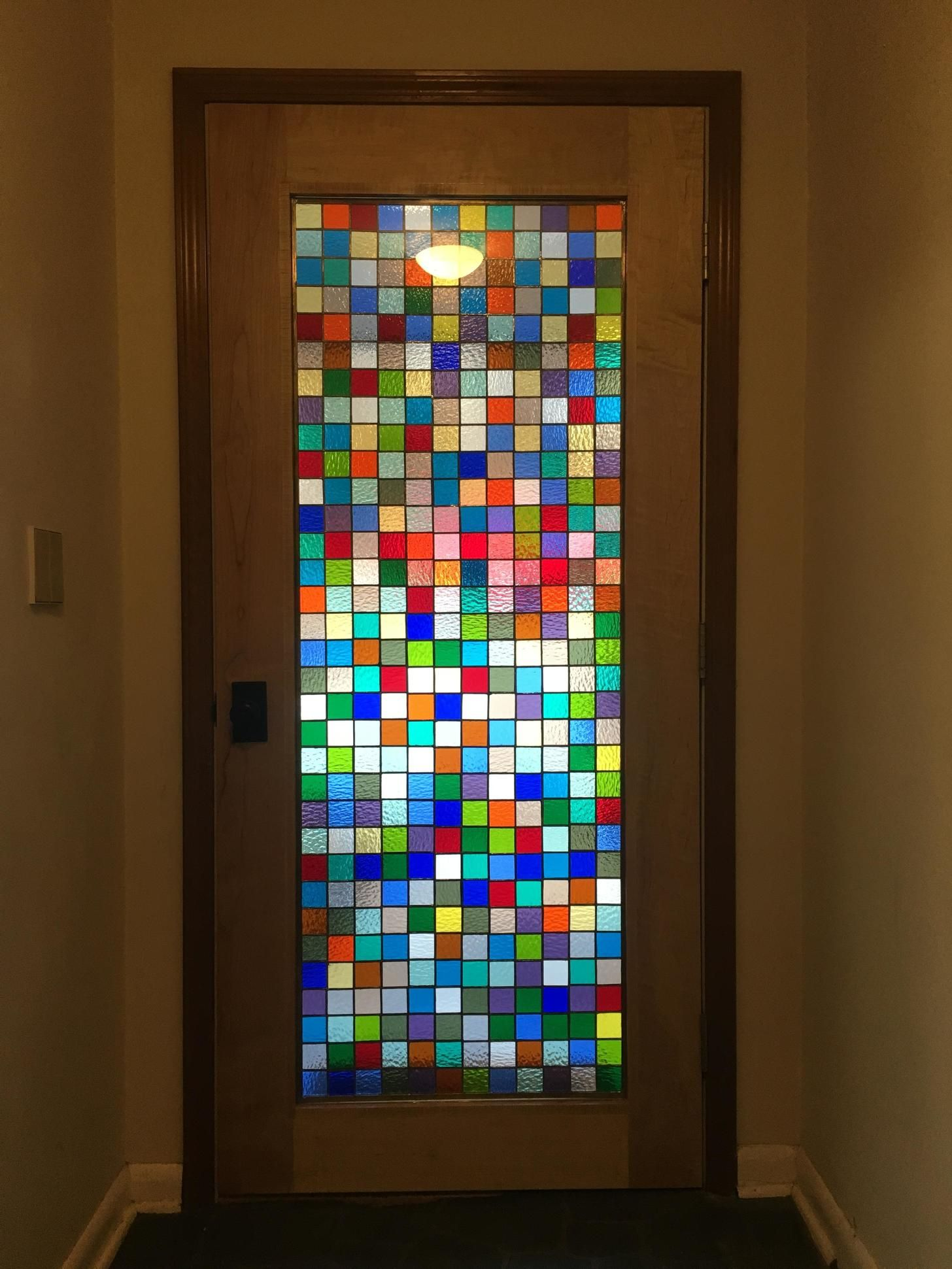 DIY Stained Glass Door Stained glass diy, Diy staining
