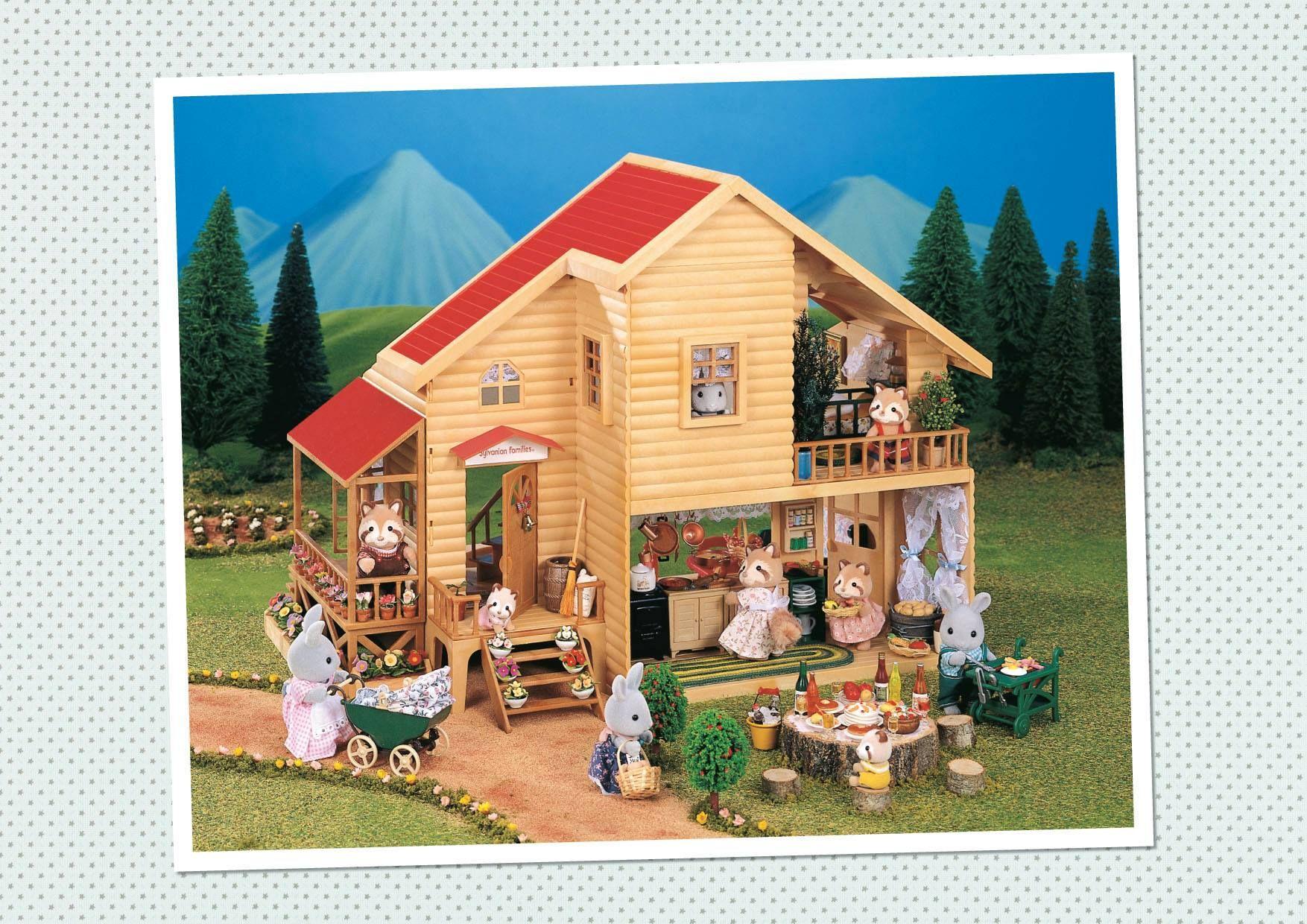 1995 Les Sylvanian Families Fêtent Leurs 10 Ans A L Occasion De Leurs 10ème Anniversaire Les Sylvanian Families Con Mobilier De Salon Anniversaire Cocon