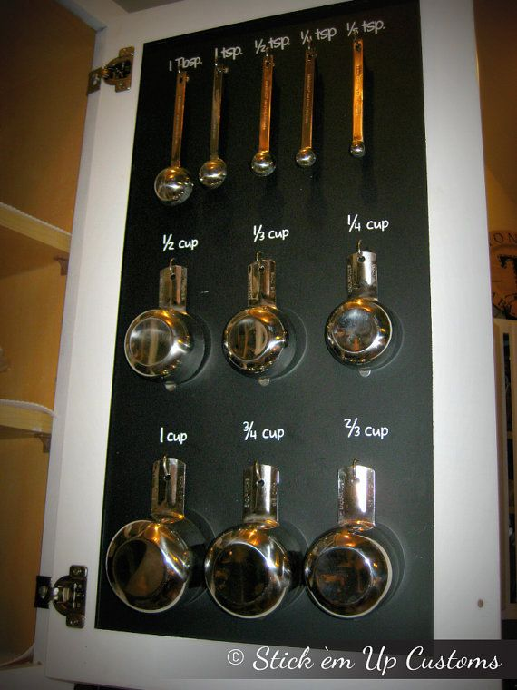 Measuring Cup Spoon Organization Decal Stickers Inside