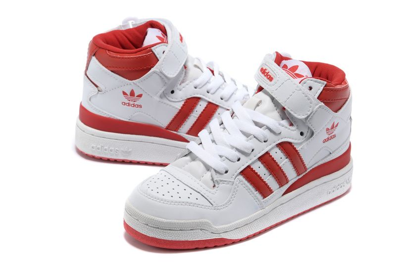 adidas forum mid Rouge Blanc and Noir