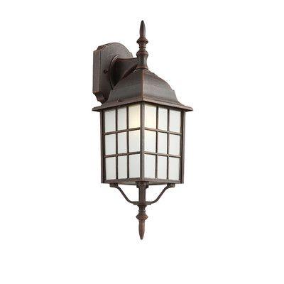Loon Peak Grover 1 Light Outdoor Wall Lantern Finish Rust