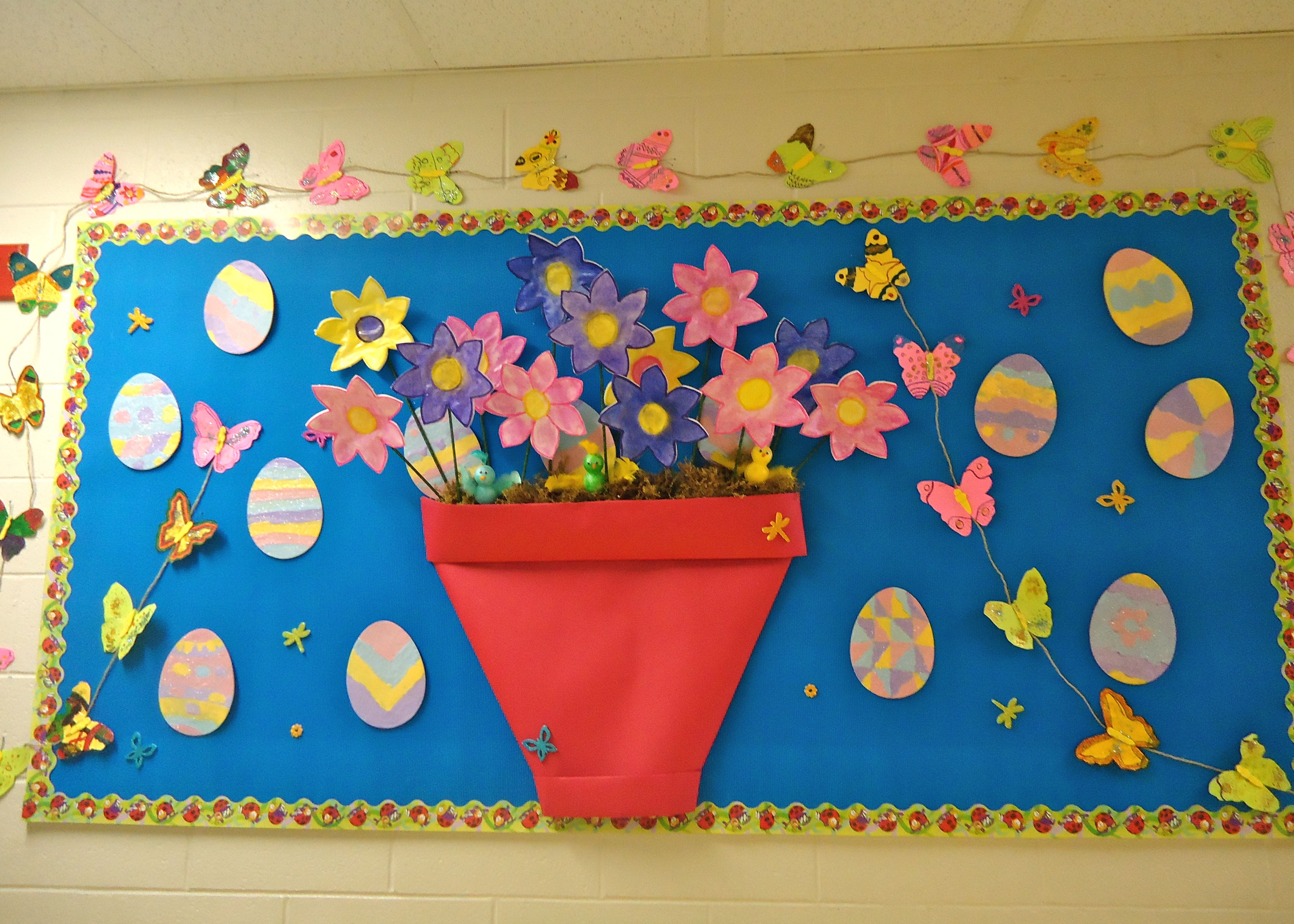 Mother S Day Classroom Decoration Ideas ~ Preschool flower bulletin boards east hill wishes