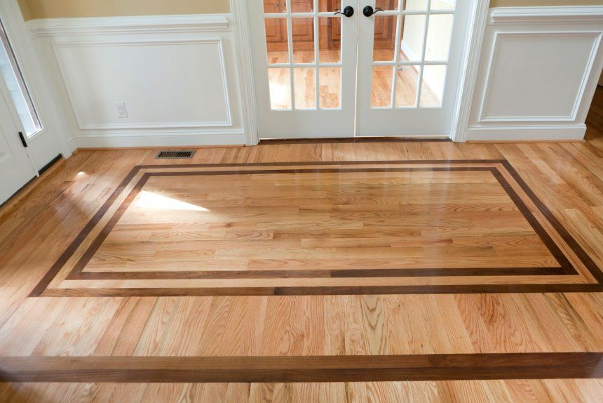 Architecture Transition Between Tile And Wood Floor Stone Designs