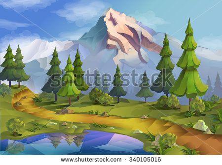 Landscape Nature Vector Background Landschaft Bilder Natur