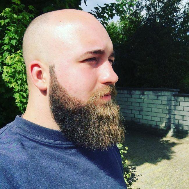 Full Thick Dark Beard Beards Bearded Man Men Mens Style Suit Well Dressed Bald Shaved