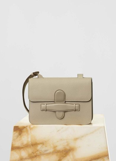 Medium Symmetrical Bag in Light Taupe Grained Calfskin - Céline Hedi  Slimane 8b28c7c87aee5