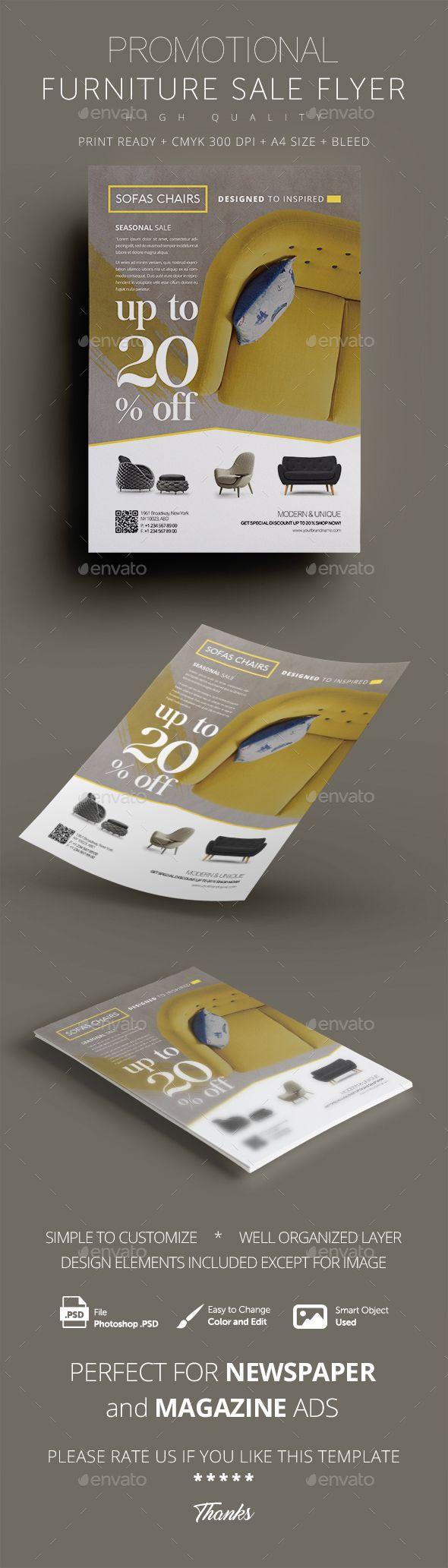 Furniture Promotional Sales Flyer Design Template Commerce Flyers - Sales flyer template photoshop
