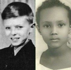 A Young David Bowie And Iman David Bowie David Bowie Born Starman