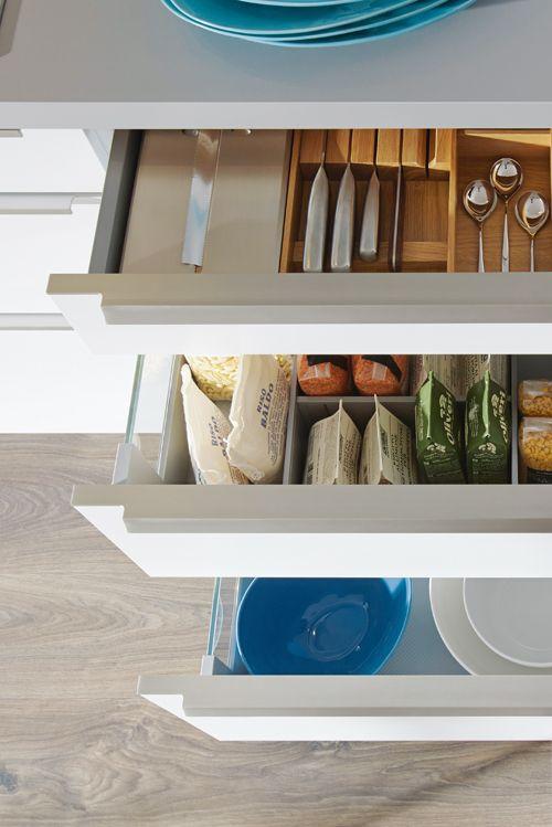 Alles schnell zur Hand: Mit schlauen Einsätzen für Küchen-Schubladen ...