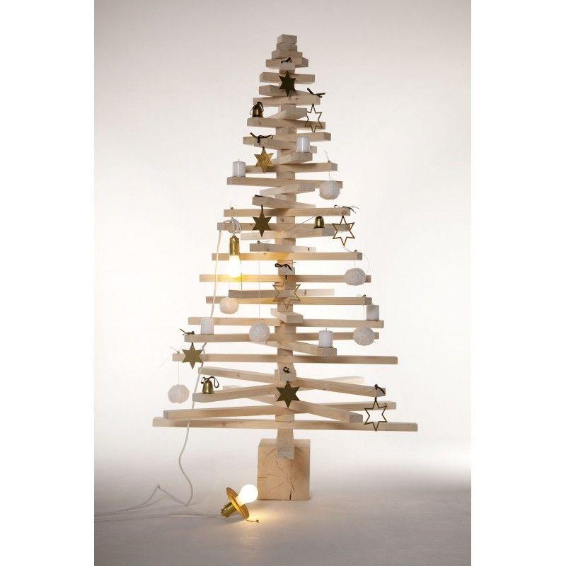 grand arbre de noel en bois 160 cm bois design. Black Bedroom Furniture Sets. Home Design Ideas