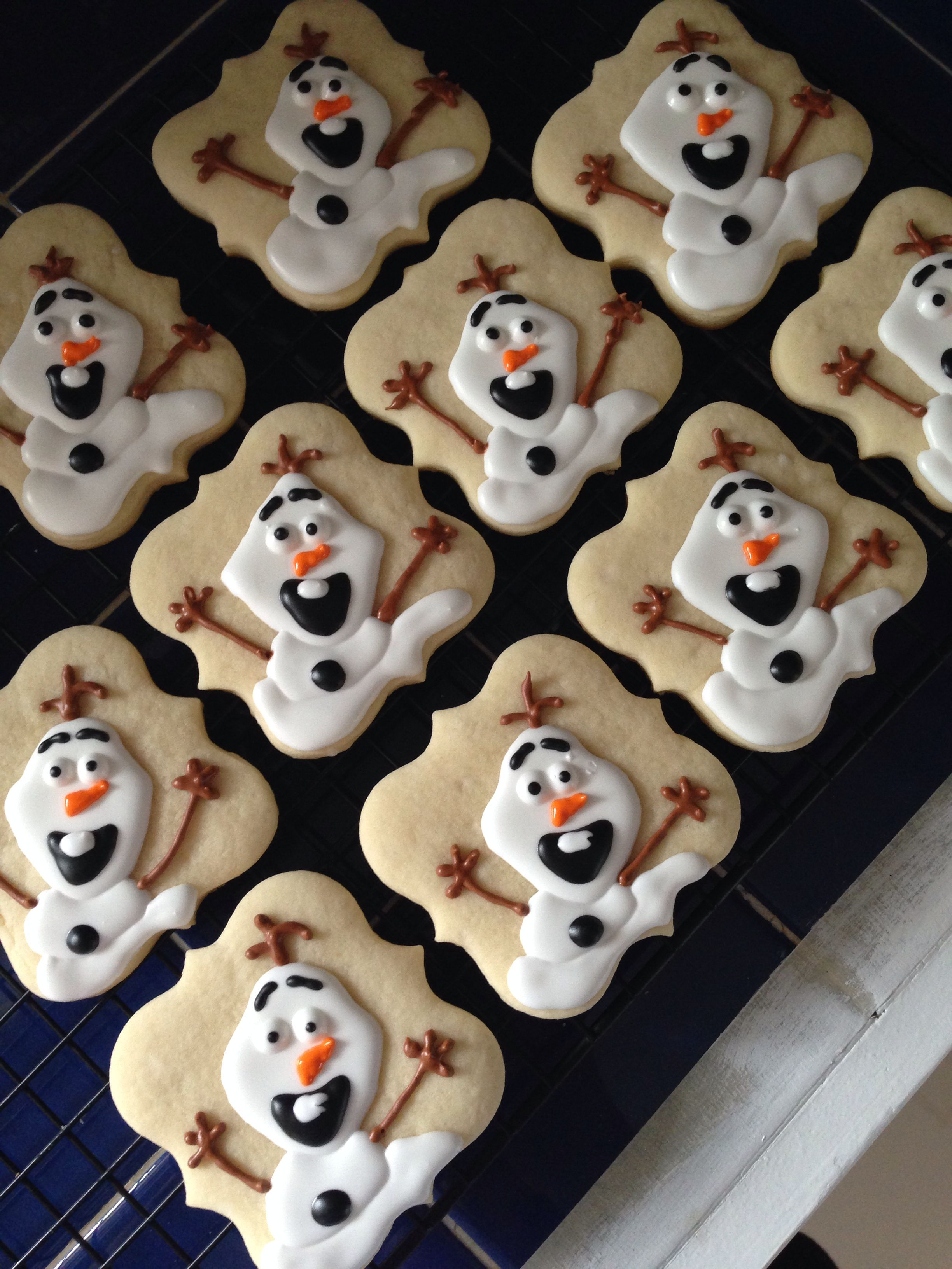 Olaf Sugar Cookies with Royal Icing