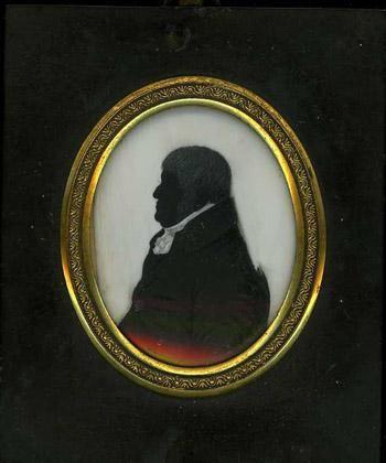 Ruby Lane: silueta masculina inglesa de alrededor de 1800.