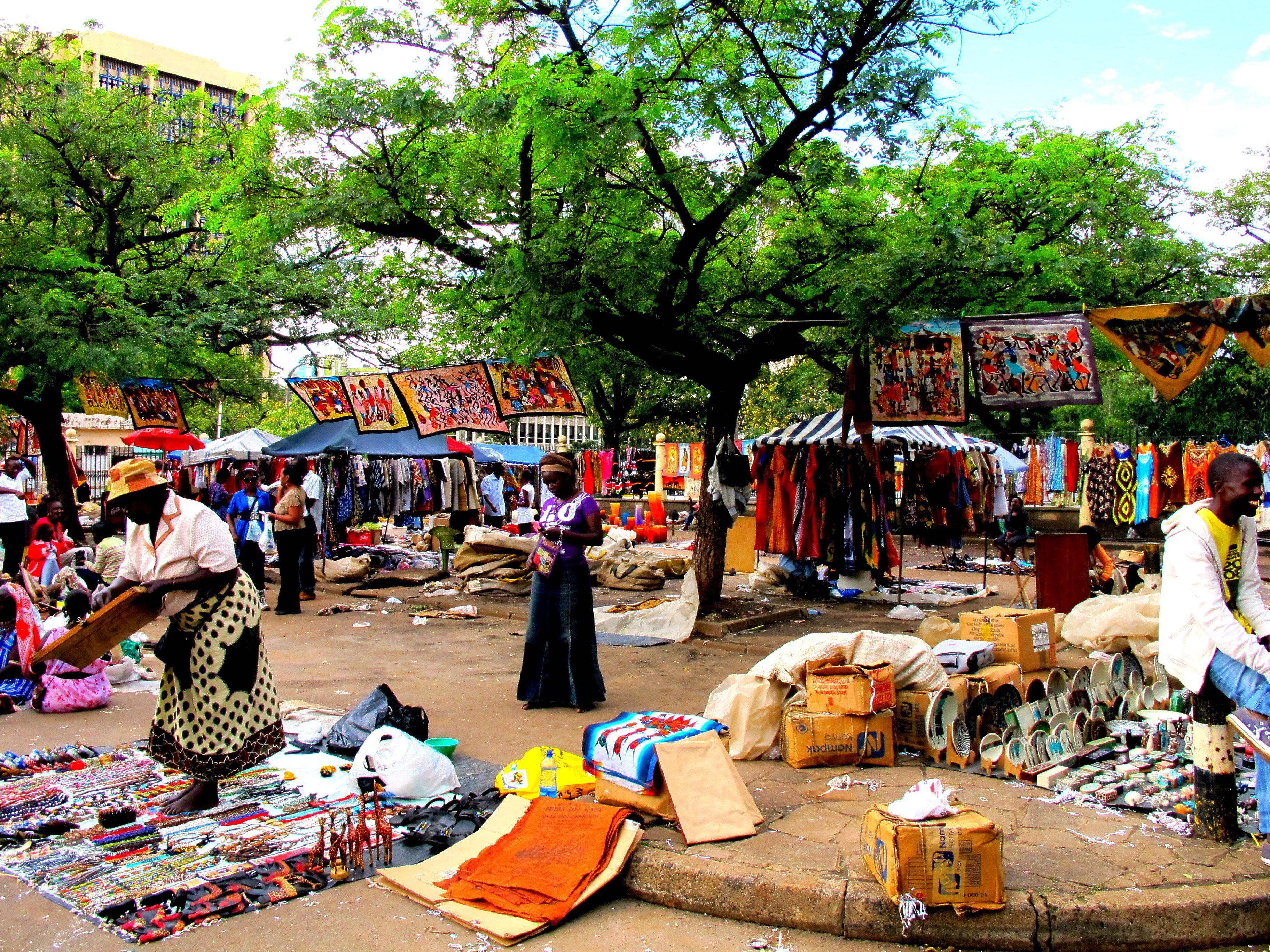 Nairobi African Market Kenya Wander Woman