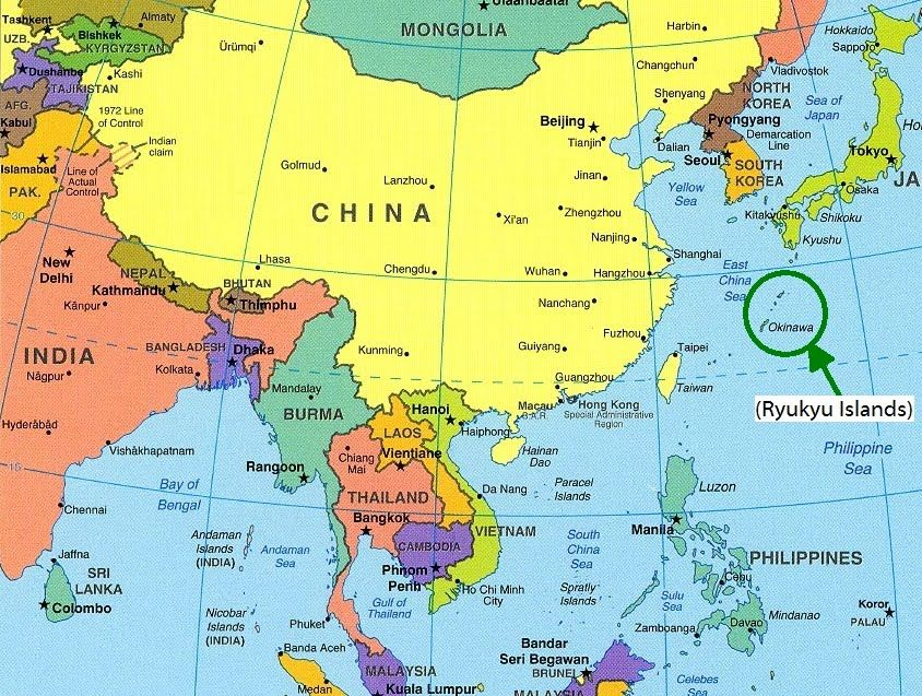Map showing the location of china in asia china pinterest map showing the location of china in asia gumiabroncs Choice Image