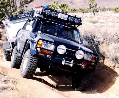 Adventureduo Com Teardrop Testing In The Mojave Desert Land Cruiser Overland Vehicles Toyota Land Cruiser