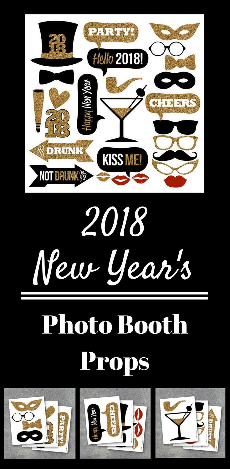 Love These 2018 New Yearu0027s Eve Party Photo Booth Props. Such A Cute Idea!