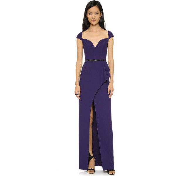 Black Halo Eve Prestige Gown ($325) ❤ liked on Polyvore featuring ...
