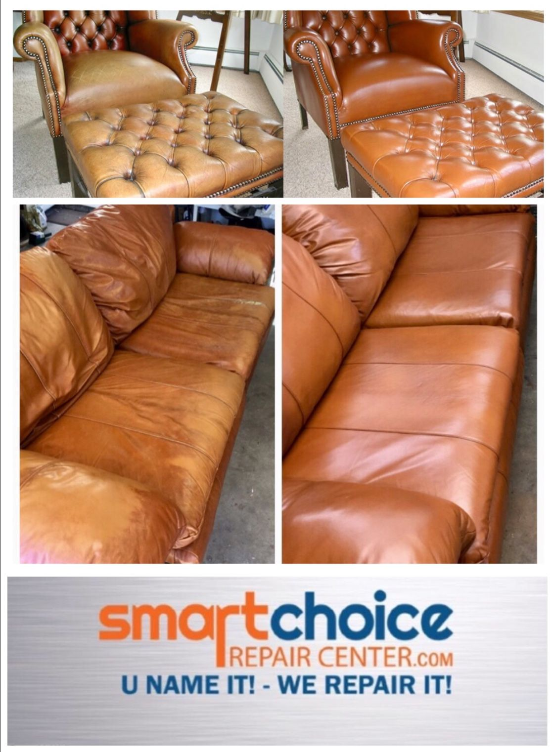 Smart Choice Repair Center Specializes In The Repair Of Residential Leather Furniture Sofas Couches Recliners