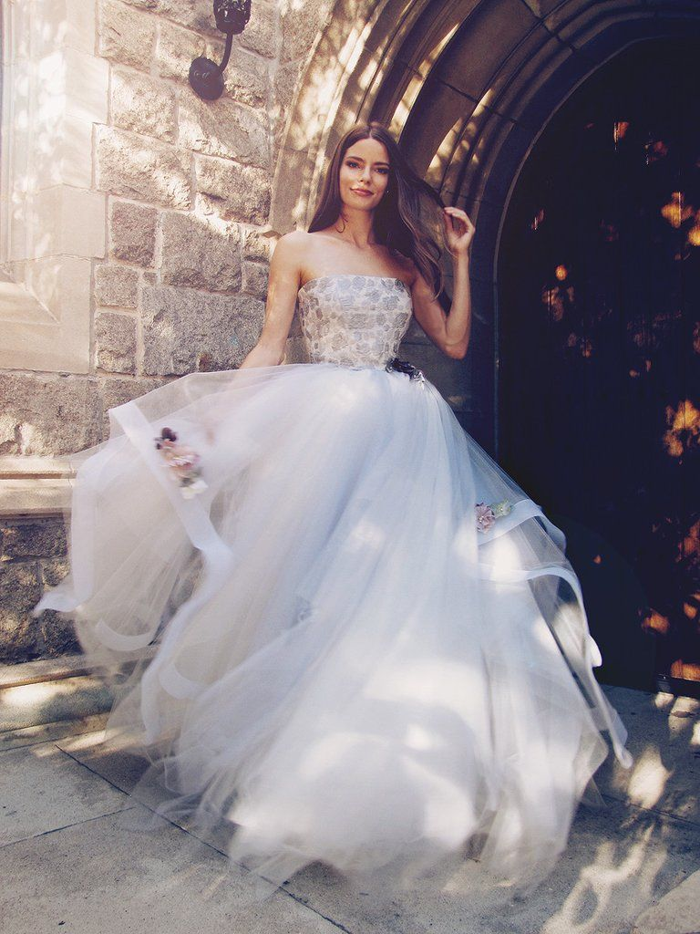 Fleur horsehair ball gowns and ivory