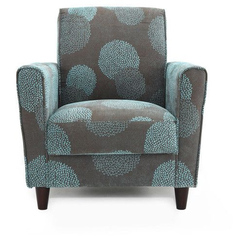 Dhi Enzo Sunflower Contemporary Style Accent Arm Chair Blue: DHI Enzo Sunflower Arm Chair & Reviews