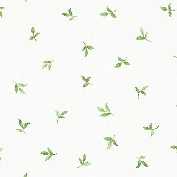"English Florals 32.7' X 20.5"" Small Leaf Toss Wallpaper"