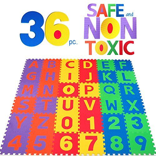 Nontoxic 36 Piece Abc Foam Mat Alphabet Number Puzzle Play Flooring Mat For Children Toddlers You Can Get More Detai Cool Toys Playmat Building For Kids