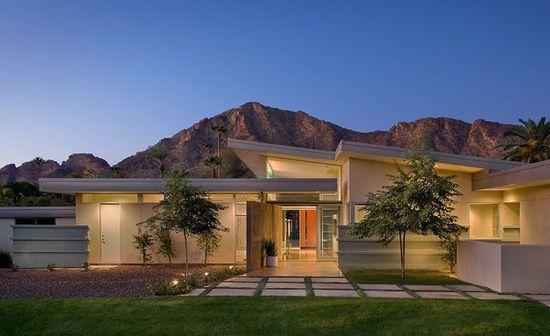 Mid Century Modern Desert Landscape Modern Ranch Modern Desert