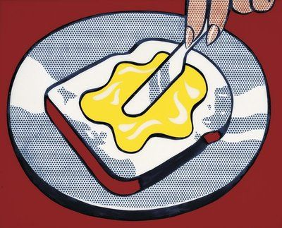 Mustard on White 1963 by Roy Lichtenstein - Tate prints, Tate canvas prints, Tate framed prints