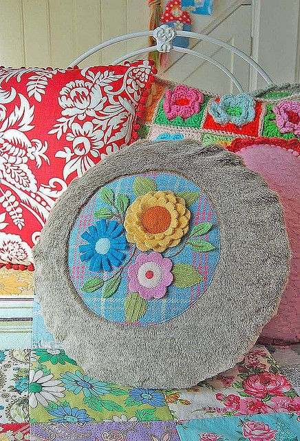 woolly and furry bouquet pillow... by rose hip..., via Flickr
