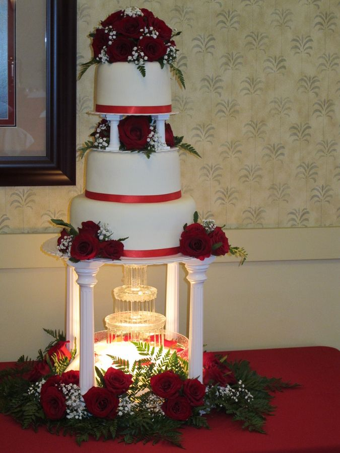 red and white wedding cakes with fountains wedding cakes with fountains wedding cake this 19103