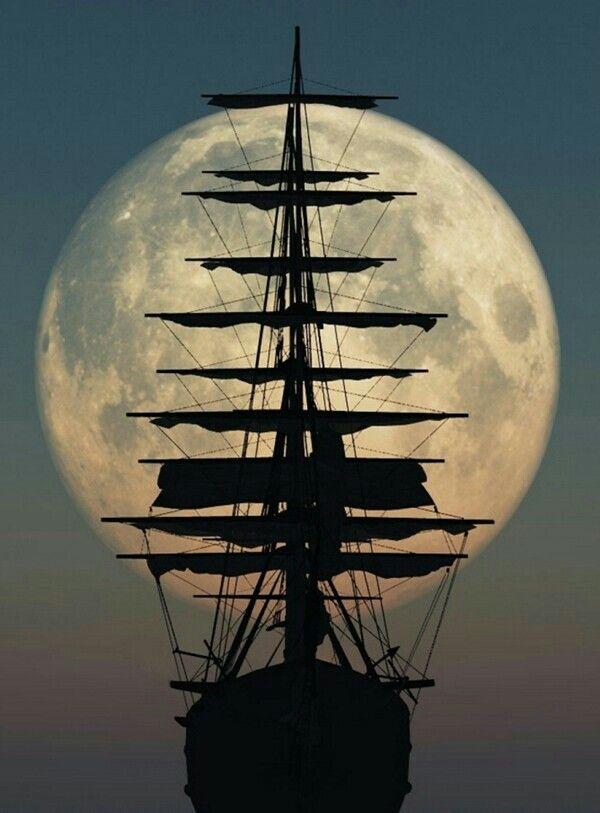 1dbea39fde2195 Lua cheia e poesias: Combinação perfeita! | Paisagens | Navios ...