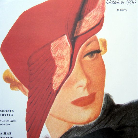 Lady in the Red Hat Vintage Poster Ladies Home by BellaMercato, $10.00