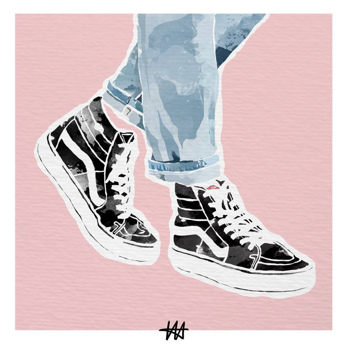 Your weekly art fix by Lena Hrnt. | Shoe art
