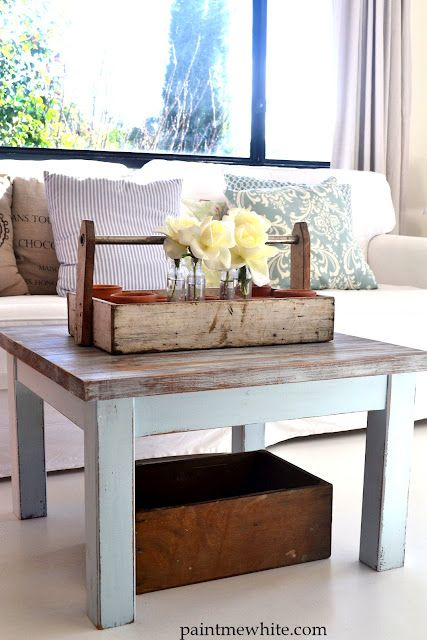 Beach House Coffee Table Presearth Driftwood Stol