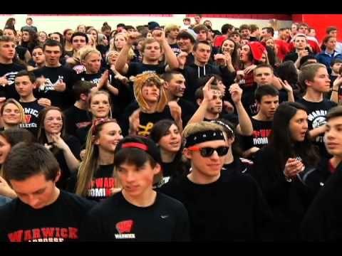 Student Section Showdown Warwick High School Youtube High School School Goals School Spirit
