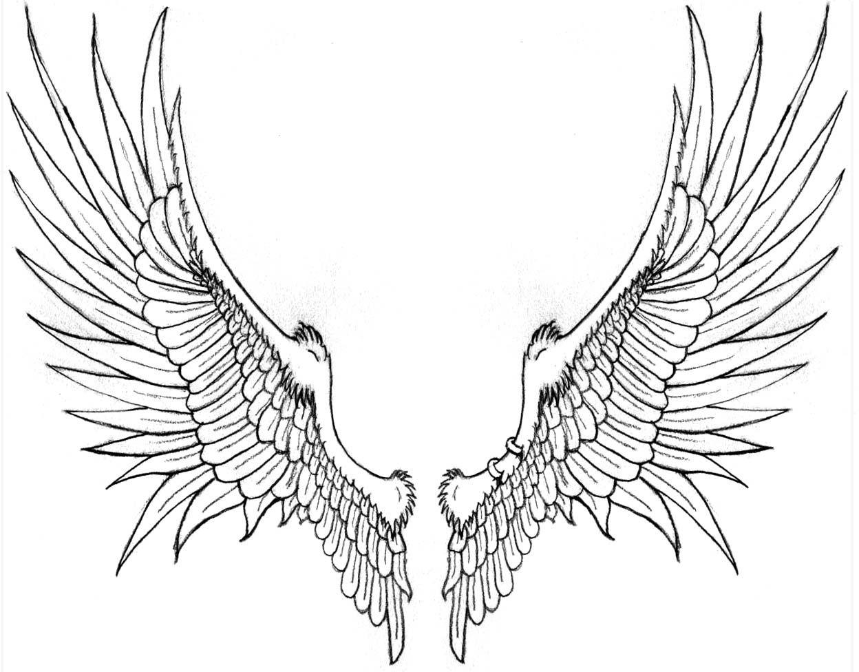 Крылья ангела картинки рисованные, поздравление днем