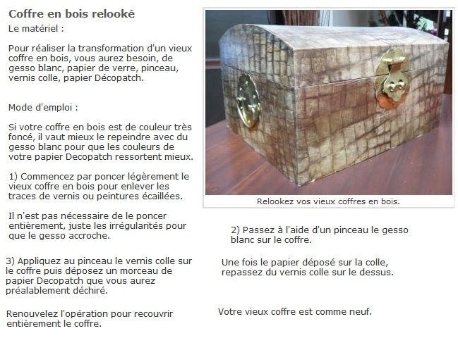transformer un vieux coffre en bois avec du d copatch meubles pinterest. Black Bedroom Furniture Sets. Home Design Ideas