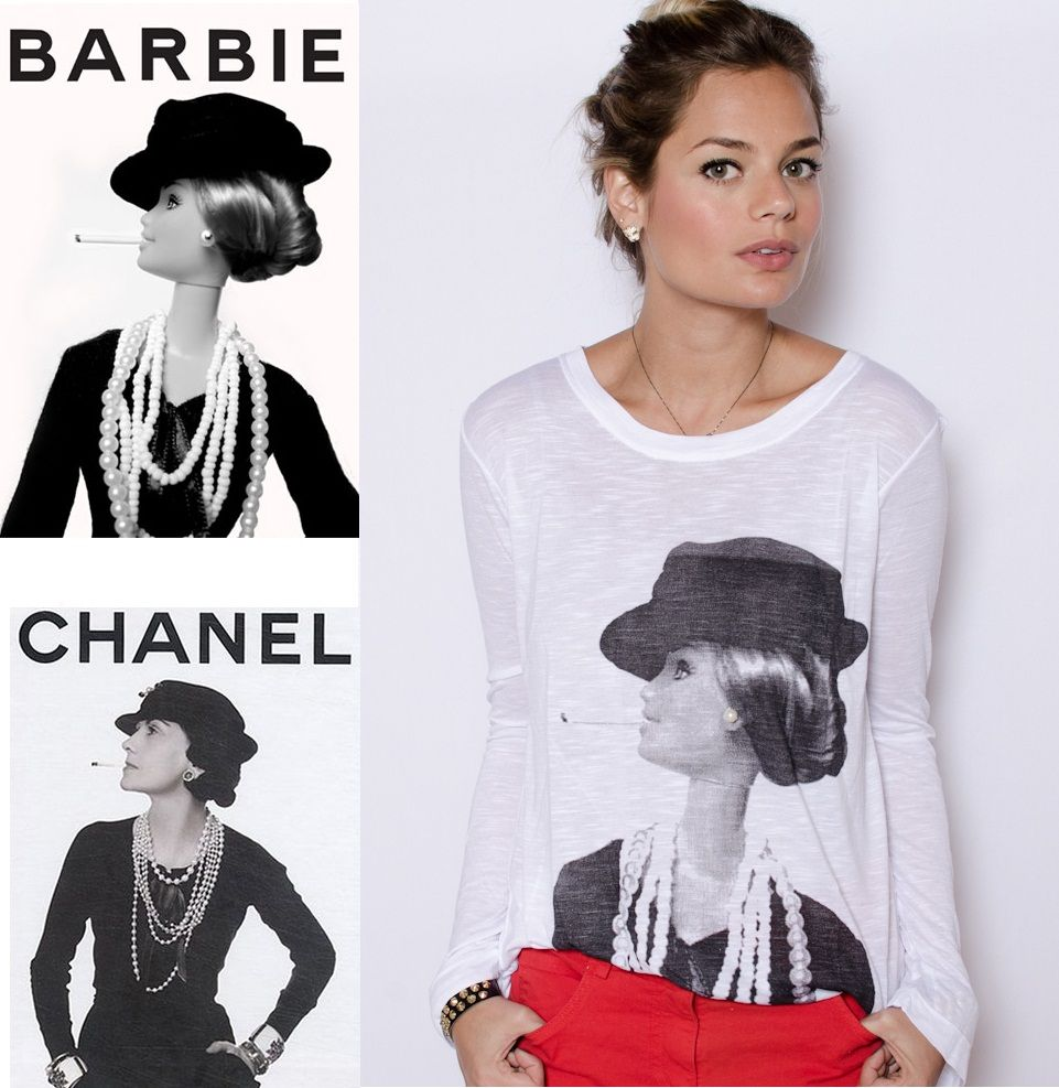 chanel #5 barbie shirt  | this.is.trend: This.is.Trend - Vi and Co - T-Shirt Barbie Chanel!