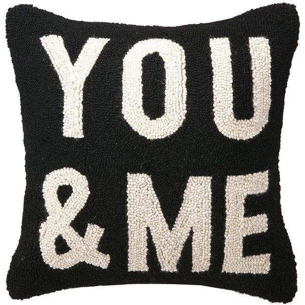 You And Me Hook Pillow (€41) ❤ liked on Polyvore featuring home, home decor, throw pillows, pillows i set of 2 throw pillows