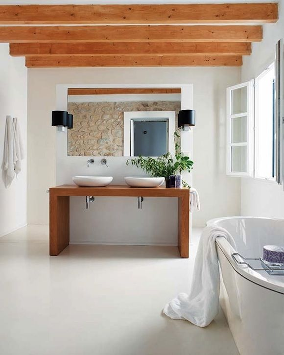 Badezimmer Auf Holzbalkendecke pandomo mallorca lavabo dalene s floors rund ums