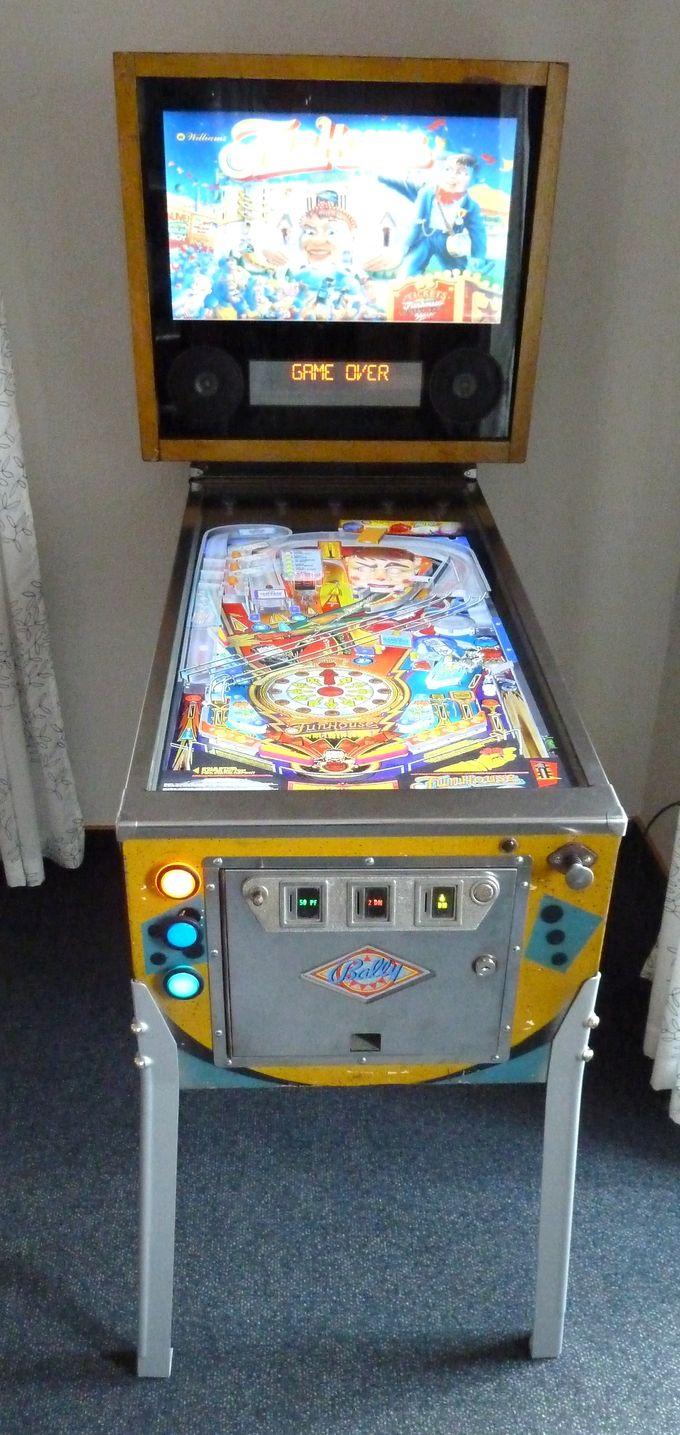 Flipper Frontansicht komplett | Pinball cab | Pinball, Arcade games